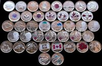 🇨🇦CANADA COMPLETE COMMEMORATIVE 25 CENT SET 1967 TO 2017 UNCIRCULATED