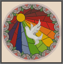 """Mandala """"The Holy Spirit Dove"""" Counted Cross Stitch COMPLETE KIT- #15-115"""