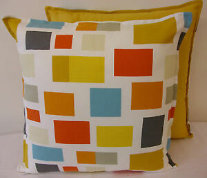 FABULOUS CUSHION COVER MADE IN HARLEQUIN SCION  BLOCKS SPICE & LINDEN