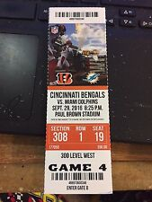 2016 CINCINNATI BENGALS VS MIAMI DOLPHINS NFL TICKET STUB 9/29