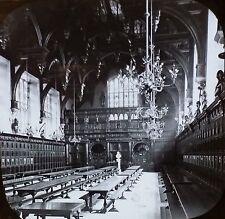 Middle Temple Hall, London, England, Antique Magic Lantern Glass Slide
