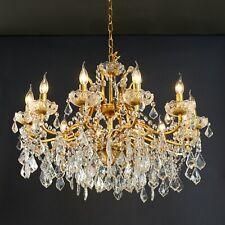 Vivianne Gold Crystal Cut Glass 12 Arm Large Chandelier Ceiling Light