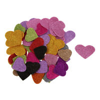 45Pcs Glitter Foam Heart Mixed Self Adhesive Sticker for Holidays Crafting