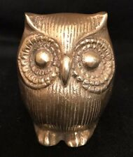 Brass Owl Paperweight, Wise Old Owl, Vintage