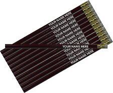 12 pkg - Maroon Personalized Hexagon Pencils - ** FREE PERZONALIZATION**