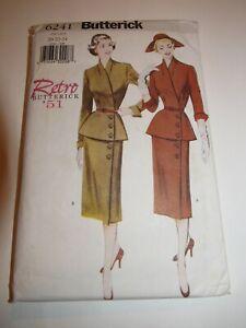 Retro 1950s Suit Pattern Butterick Size 20-24