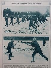 1917 HAND-TO-HAND FIGHTING IN GAS MASKS; AFTER SNOW, MUD WWI WW1