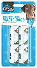 60 x Emoticon Doggie Waste Tie Bags Poo Pooper Dog Pet Scooper Toilet