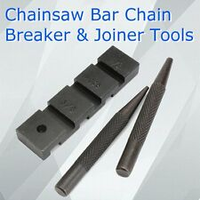 3Pcs/Set Pocket Chainsaw Bar Chain link Revit Punch Breaker & Joiner Tools