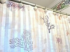 Seashell & Coral Better Homes & Gardens Shower Curtain + Scallop Curtain Hooks