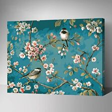 Diy Oil Painting Paint by Numbers Kits for Adult Kids Students-Birds In Branches