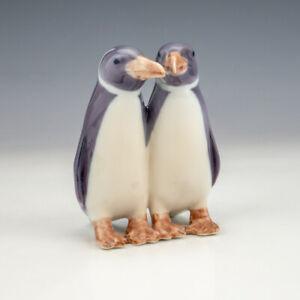 Royal Copenhagen Porcelain - Penguins Bird Figurine