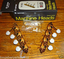 GOTOH 4 TO A SIDE FINISHED GOLD PEARLOID F MANDOLIN MACHINE HEADS TUNERS TUNING