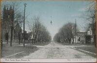 1910 Postcard: West Center Street - Paxton, Illinois IL