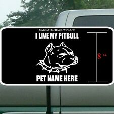 I love my pit bull personalized. Pit bull personalisation. Pit bull sticker.
