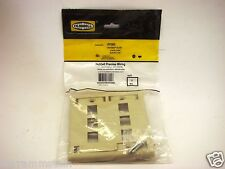 HUBBELL IFP26EI  Face Plate, Rear-Loading, 6-port Double-Gang, Electric Ivory B3