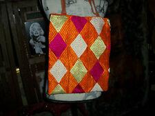 BIASA Lovely Orange+Violet Fabric Tote  Computer Bag