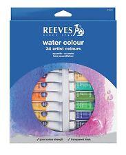 Reeves Artist Watercolour Paint Set 24 x 10 ml Tubes - Assorted Starter / Gift