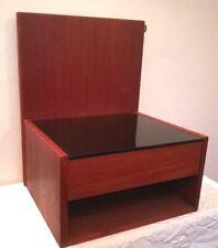Mid-century Danish Hans Wegner Getama floating nightstand Teak bedside table 60s