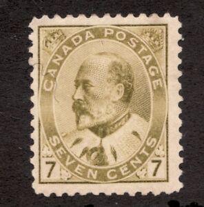 #92ii - 1903 - 7 Cent - KEVII - Canada - MH -  F/VF  - Superfleas -  Cv $310