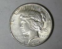 1923-S Peace Silver Dollar XF/AU San Francisco Mint (92318)
