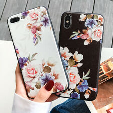 Bloom Rose Flower Fashion Woman Shockproof Soft Shell Case Cover Best Gift