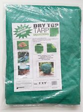 9'x9' Drawstring Tarp Green Foremost Tarp Dry Top 500998 BEST PRICE!