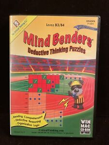 The Critical Thinking Co. : Mind Benders Deductive Thinking (CD, 2009) Win/Mac.