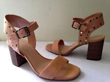 NEW! MAX STUDIO Beige Studded Vegan Leather SIRENTY Heels Sexy Sandals 9 M $118