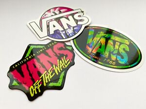 Vans Off The Wall Stickers Neon Set Of 3 - Glossy Skateboard  Stickers -