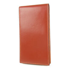Auth HERMES Box Calf Leather Memo Pad Note Holder Case □H F/S 1111
