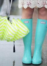 Rare Hunter Tiffany Blue Mint Rubber Rain Boots US 8 UK 6 EU 39 New Gummistiefel