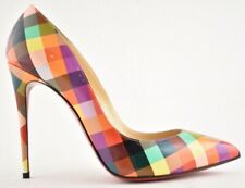 Christian Louboutin Pigalle Follies 100 Cinesquare Patent Pointed Heel Pump 36