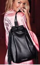 NEW Victorias Secret Fashion Show Black Fringe Backpack Style Bag Last one!!