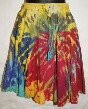 New Tie Dye Skirt 6 8 10 - Hippy Fair Trade Boho Hippie Cotton Festival Mini