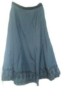 "Womens Marks and Spencer midi Skirt Size 10 Waist 28"" Slate Blue New"