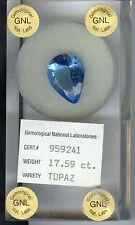 17.59 CT Natural London Blue Topaz Pear Shape