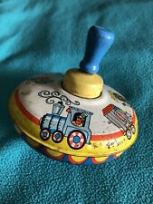 Antique Tin Spinning Top Toy