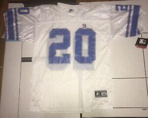 VTG 90s White Starter Detroit Lions Barry Sanders #20 NFL Football Jersey 48 L