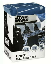 Star Wars R2D2 and C3Po 4 Piece Full Sheet Set Soft and Comfortable Sheets New