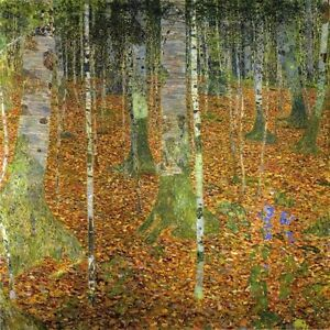 "Gustav Klimt, ""Birch Wood 1903"",  giclee open edition print"