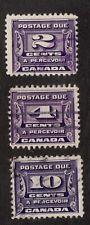 Sc# J12 J13 J14 - Canada - Postage Due - 1933 - F Used -  Superfleas cv$24