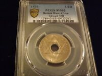 1936  1/2 D  British West Africa      PCGS MS 65