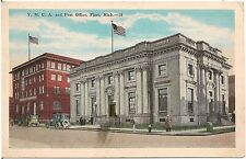 Y.M.C.A. and Post Office in Flint MI Postcard