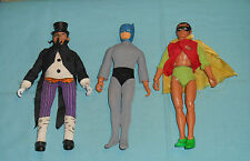 vintage Mego WORLD'S GREATEST SUPER-HEROES WGSH BATMAN & ROBIN & THE PENGUIN lot