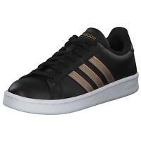 adidas Grand Court Damen Low Sneaker Schwarz