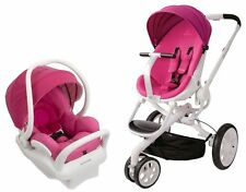 Quinny Moodd Travel System Baby Stroller Mood w/ Mico Max Infant Car Seat Pink