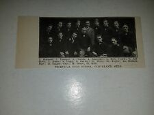 Technical High School Cleveland Ohio 1911 Football Picture