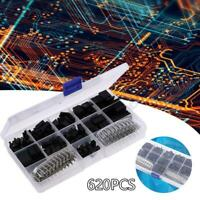 620Pcs Dupont Wire Jumper Pin Header Connector Housing Kit and M or F Crimp Pins