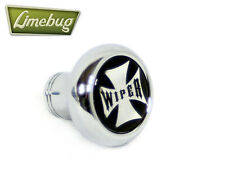 Chrome Deluxe Dash Knob Switch Wiper Iron Cross VW Camper Beetle Buggy T1 T2 Bus